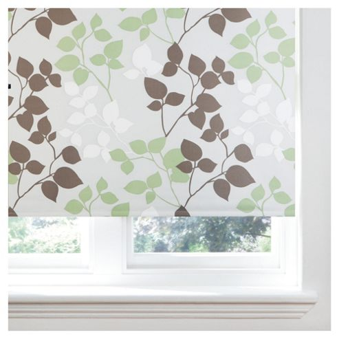 Bold Leaf Roller Blind 60x160cm Natural