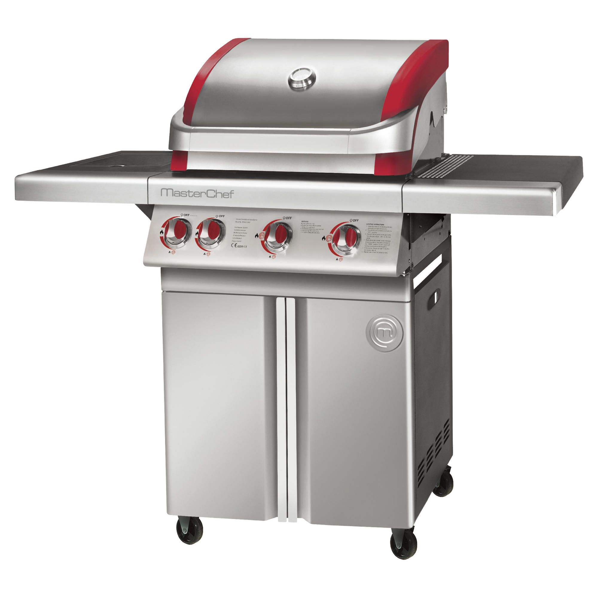 MasterChef Contender Stainless Steel 3 Burner Gas BBQ at Tescos Direct