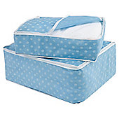 Pois blanket set, blue