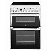 Indesit ID60C2W Ceramic Double Oven  Electric Cooker