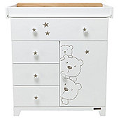 Tutti Bambini Bears Nursery Chest Changer, Beech/White