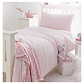 Little Boutique Seersucker Stripe Duvet Set Pink Double
