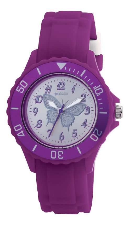 Tikkers Purple Butterfly Girls Watch