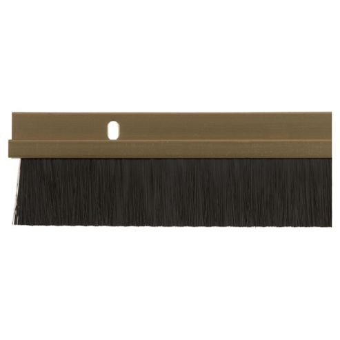 Metal Bottom Door Brush Seal Gold