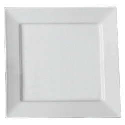 Super White Square Dinner Plate, Porcelain