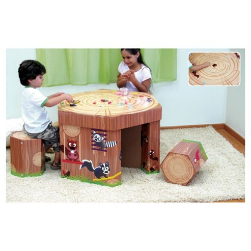 Krooom Woodland Table & 3 Stool Set Wooden Toy