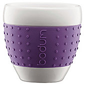 Bodum Pavina Set of 2 0.08L Porcelain Mugs, Purple.