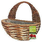"16"" Spiral Banana Leaf Wall Basket"