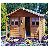 Finewood Cubby Wooden Playhouse, 6' x 6' with Veranda