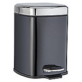 F+F Home Metal Square Bin Black