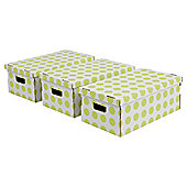 Pois boxes set, 3 piece green