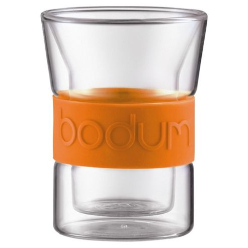Bodum Presso Set of 2 0.3L Double Walled Glasses, Orange