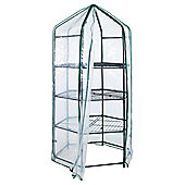 Tesco Hexagonal Growhouse with Metal Frame & Plastic Cover, 195cm