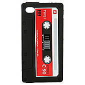 Orbyx Retro Silicone Case Cassette Tape Style iPhone 4 /4S Black