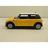 Auldey Mini Cooper 1:28 Yellow RC Toy Car