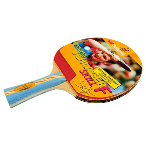 Butterfly Schlager Skill Table Tennis Bat with free bat wallet