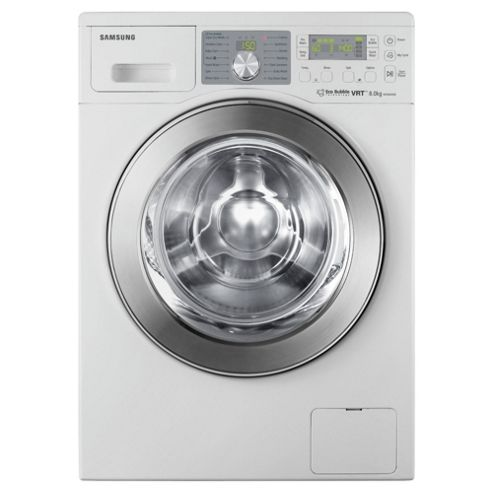 Samsung WF0804X8E/XEU Washing Machine, 8kg Wash Load, 1400 RPM Spin, A Energy Rating. White