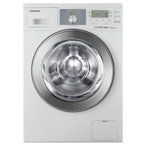 Samsung WF0804X8E/XEU Washing Machine, 8kg Wash Load, 1400 RPM Spin, A Energy Rating. White