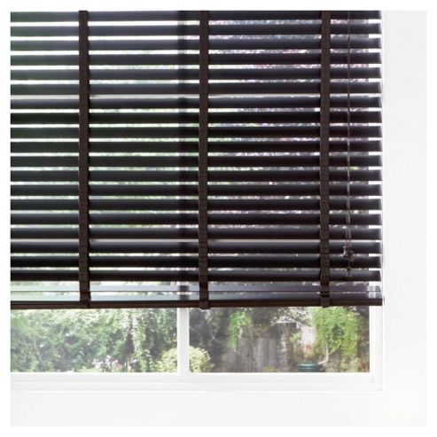 Wood Venetian Blind Pure Mocha 60cm 50mm slats