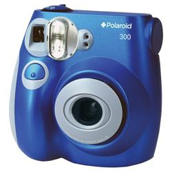 Polaroid instant film camera blue
