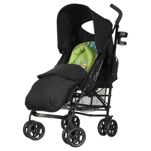Obaby Atlas Lite Stroller with Footmuff - Lime Stripe