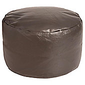 Kaikoo Faux Leather Pouffe, Brown