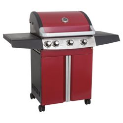 Alaska Red 3 Burner Gas BBQ with Side Burner