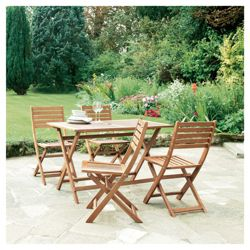 Tesco Pembroke Wooden 4 Seater Patio Set