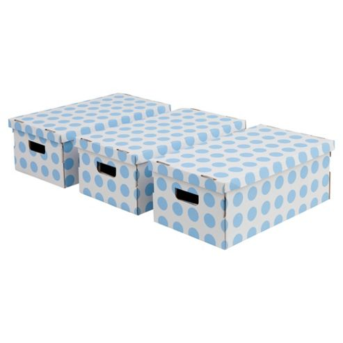 Pois boxes set, 3 piece blue