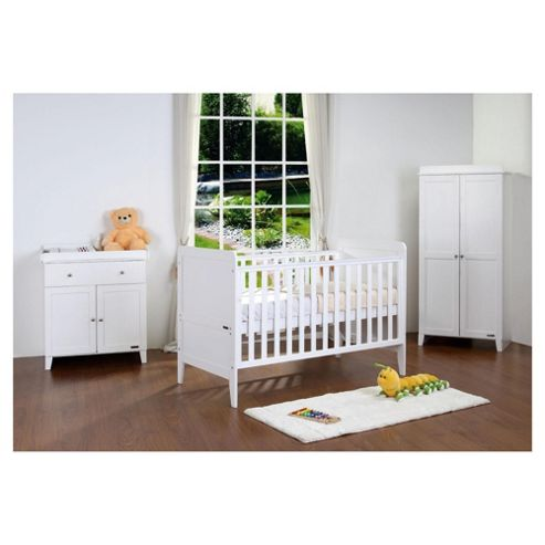 Tutti Bambini Rio 3 Piece Room Set, White with FREE Home Assembly