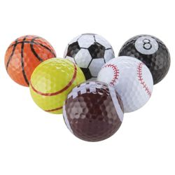 Novelty Sports Golf Balls