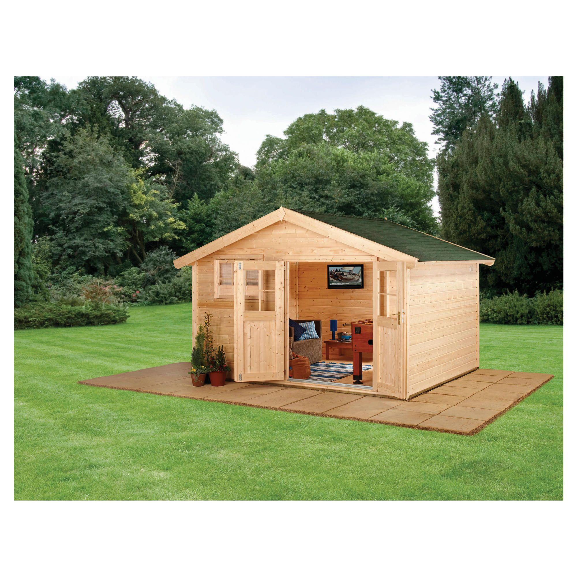 Finnlife SOMA 212 Log Cabin at Tesco Direct