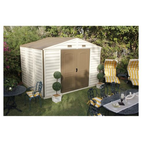 Woodside Vinyl Shed 10x8 with foundation kit