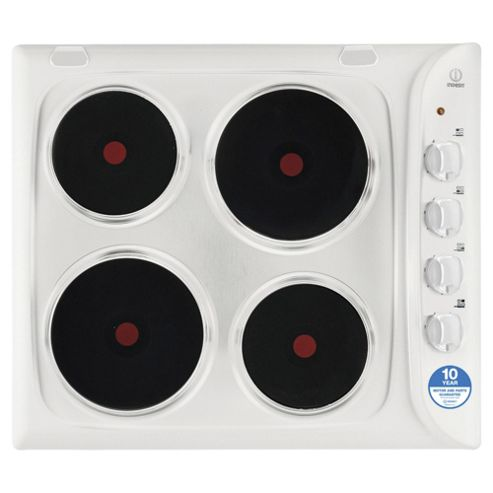 Indesit Electric Hob, PIM604WH, White