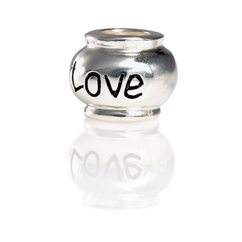 Sterling Silver Love Bead