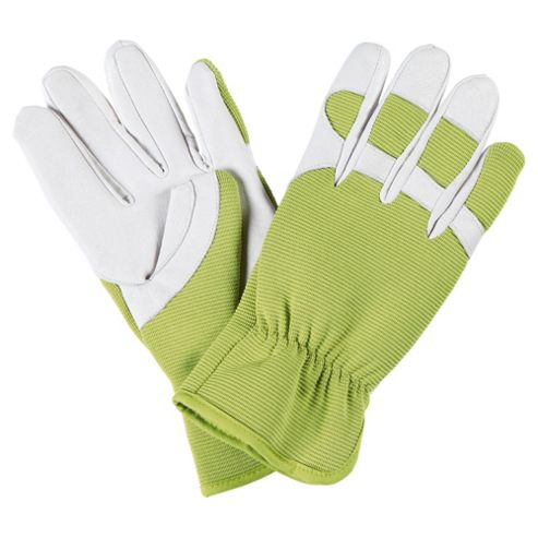 Mens Leather and Elastic Garden Glove