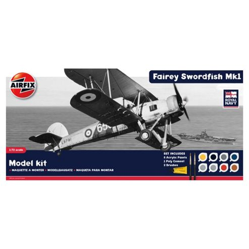 Hornby Airfix A50133 Royal Navy Swordfish 1:72 Scale Aircraft Gift Set