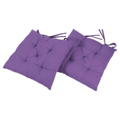 Tesco Lilac Seat Pads 2pk