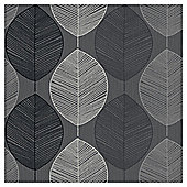 Arthouse Retro Leaf Black
