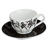F&F Home Shadow Tree Teacup and Saucer.