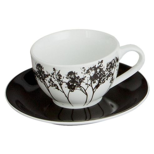 F&F Home Shadow Tree Teacup and Saucer