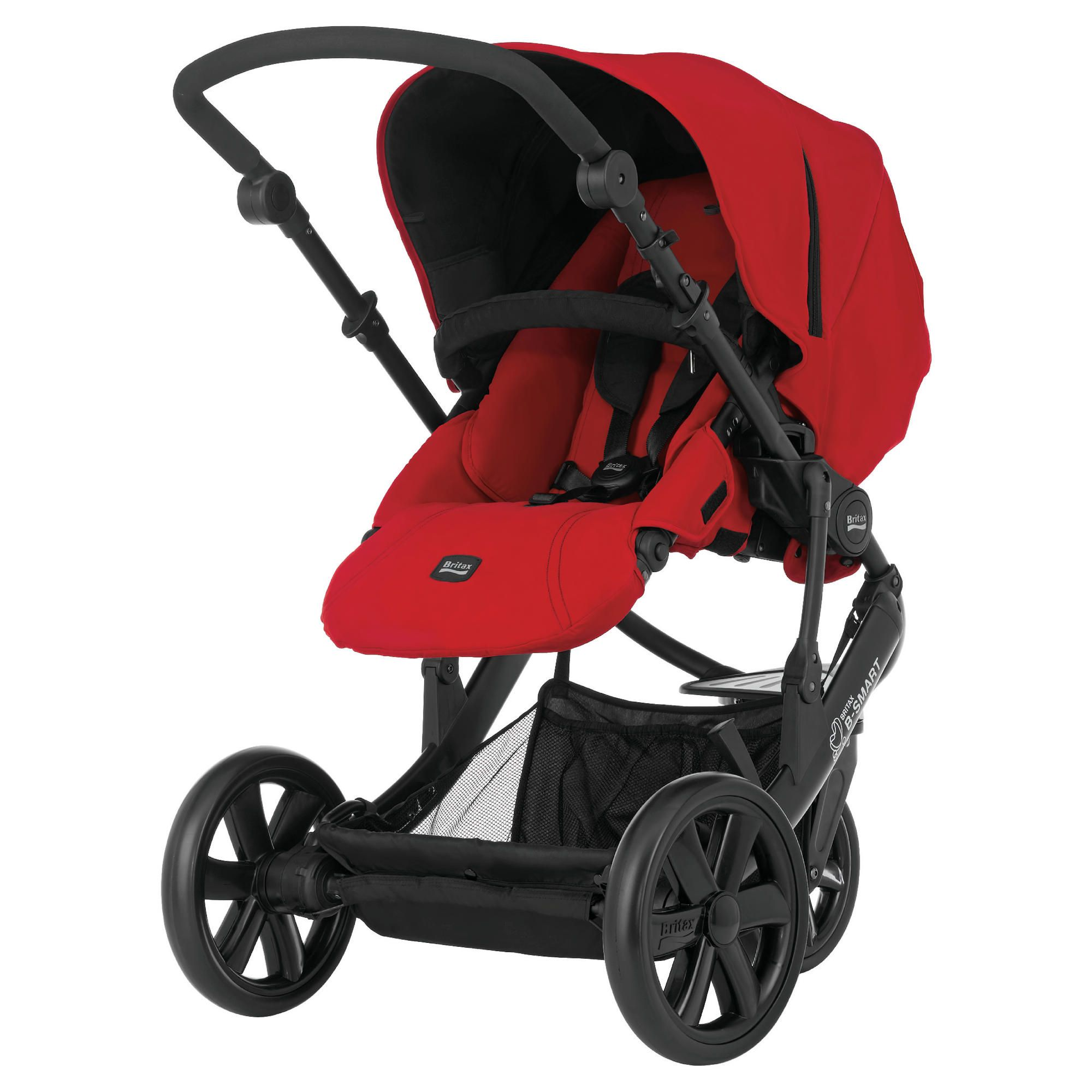 Britax B-Smart 3 Wheeler Pushchair Chilli Pepper at Tesco Direct