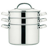 Prestige 3 Tier Steamer, 20cm, Stainless Steel