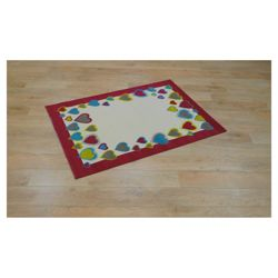 Tesco Kids Coloured Hearts Rug Pink / Cream 115x160cm