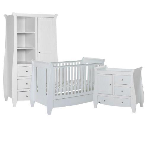 Tutti Bambini Lucas 3 Piece Nursery Room Set, White