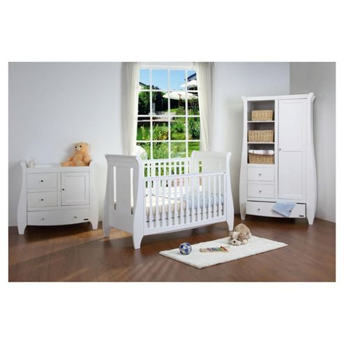 Tutti Bambini Lucas 3 Piece Room Set, White with FREE Home Assembly