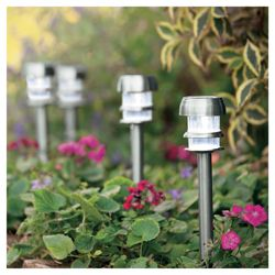 Tesco Stainless Steel Superbright Solar Marker, 6 pack
