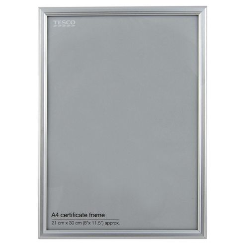 Basic Silver Photo Frame A4