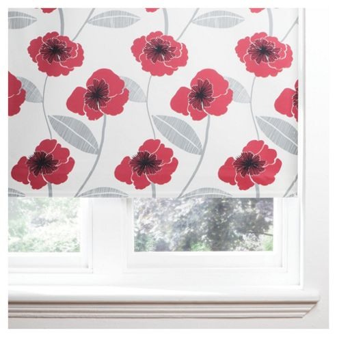 Poppy Roller Blind 120x160cm Red