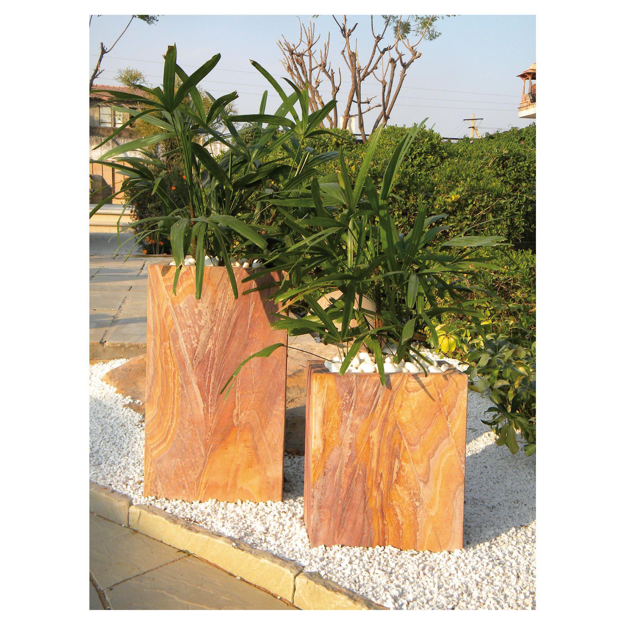 Quadra Rainbow Stone Planter 60cm at Tesco Direct